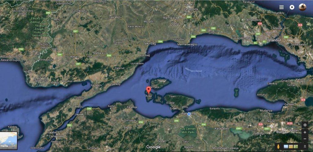 avşa adası nerede
